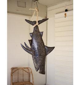 Rustic Metal Shark on Rope