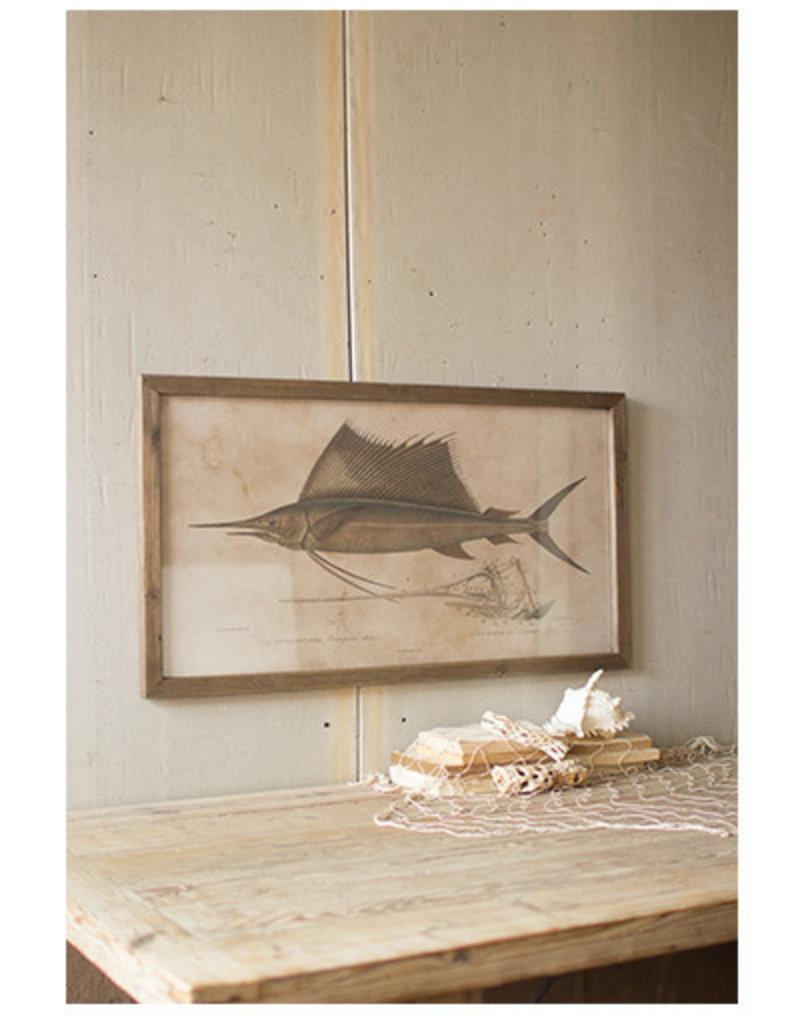 Sailfish Print Under Glass