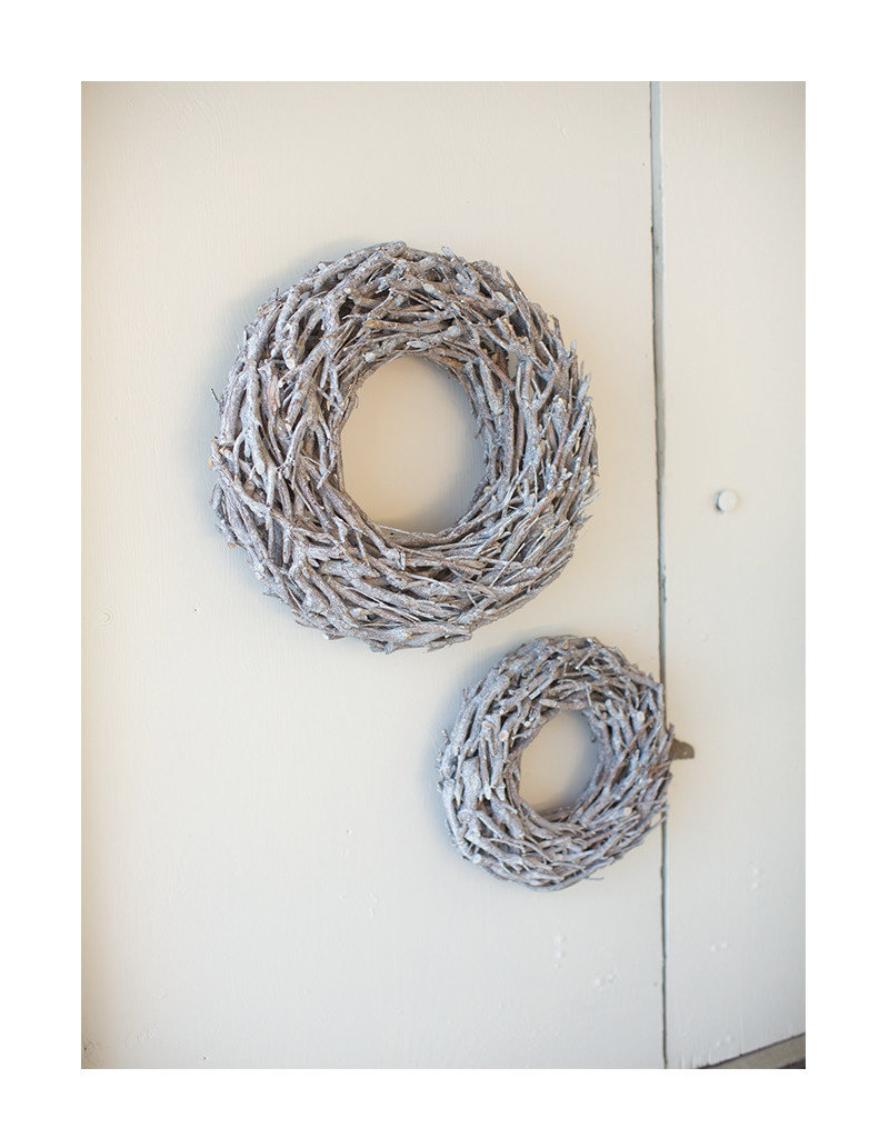 Grey Wash Willow Root Christmas Wreath