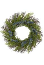 Cedar with Blue Berries Artificial Wreath