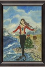 Christmas Mermaid Framed Print