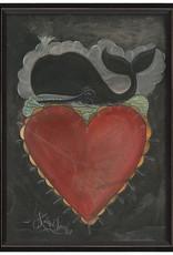 The Artwork of Kolene Spicher Whale Heart Framed Print
