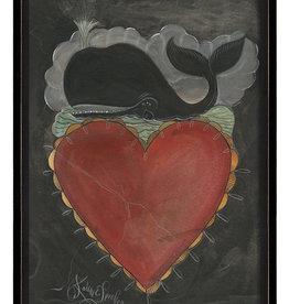 Whale Heart Framed Print