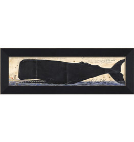 Folded Nantucket Whale Framed Print