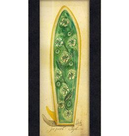 The Artwork of Kolene Spicher Tropical Surfboard Framed Print