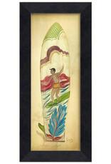 Surfin Surfboard Framed Print