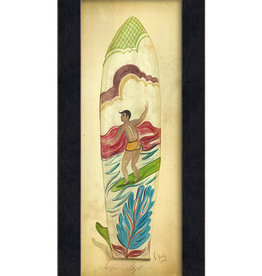 The Artwork of Kolene Spicher Surfin Surfboard Framed Print
