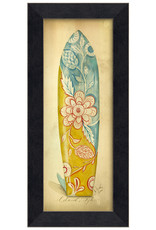 The Artwork of Kolene Spicher Island Style Surfboard Framed Print