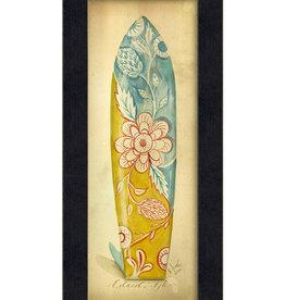 Island Style Surfboard Framed Print