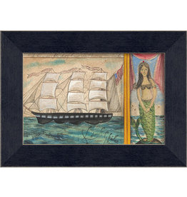 The Artwork of Kolene Spicher The Christmas Mermaid Framed Print