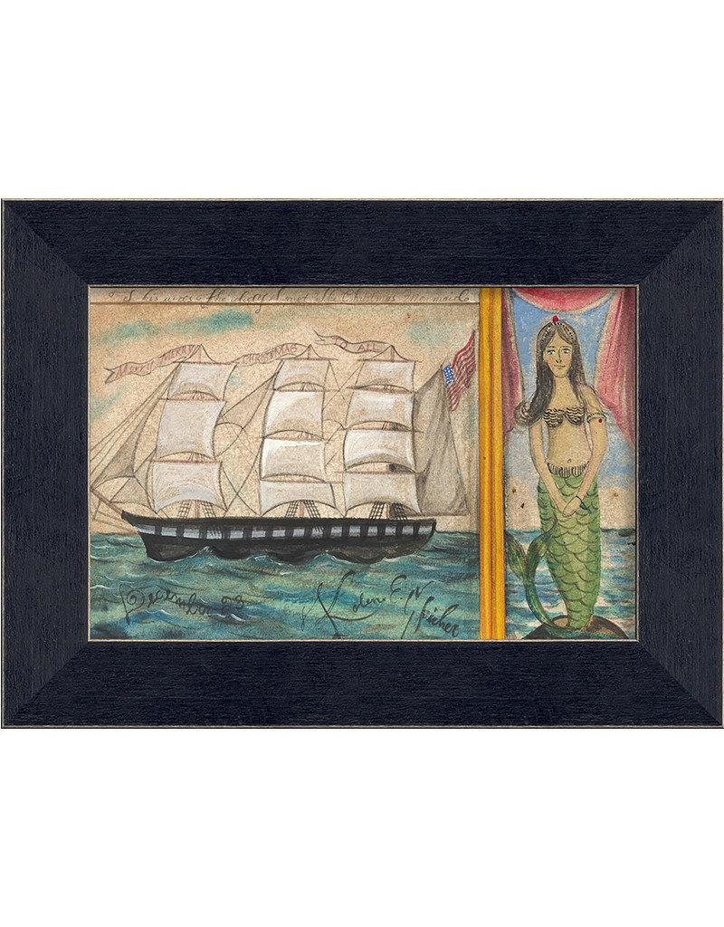 The Artwork of Kolene Spicher The Christmas Mermaid Framed Print