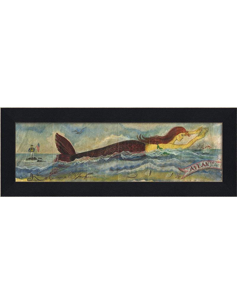 The Artwork of Kolene Spicher Mermaid at the  Atlantic Shore Framed Print