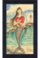 The Artwork of Kolene Spicher A Sailor's Valentine Mermaid Framed Print