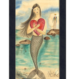 A Sailor's Valentine Mermaid Framed Print