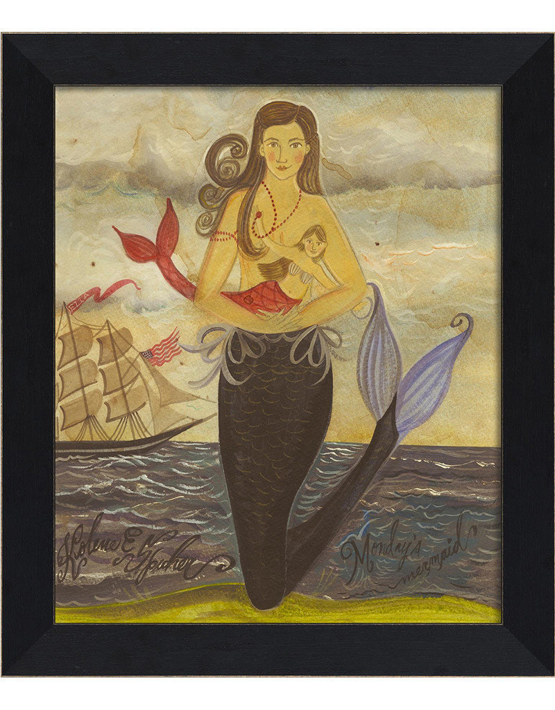 The Artwork of Kolene Spicher Monday's Mermaid Framed Print
