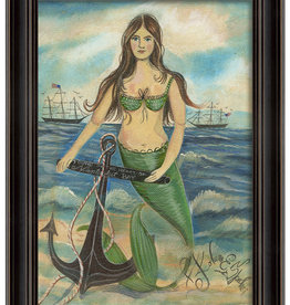 The Artwork of Kolene Spicher Found in the Heart of Nantucket Bay Mermaid Framed Print