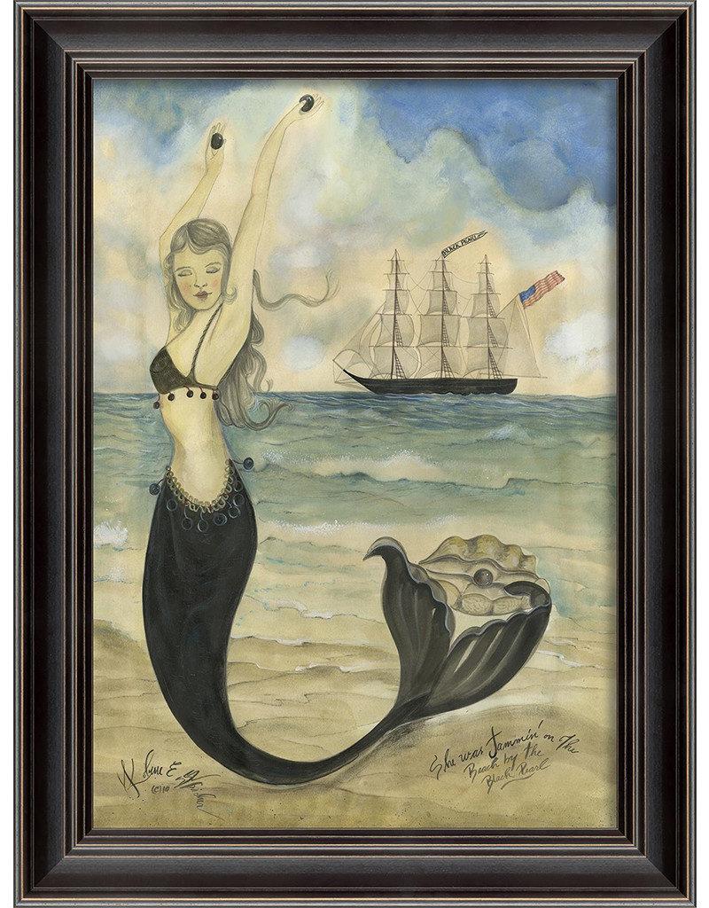 The Artwork of Kolene Spicher Black Pearl Oyster Lounge Mermaid Framed Print
