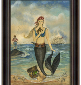 The Artwork of Kolene Spicher Pirate Mermaid Framed Print
