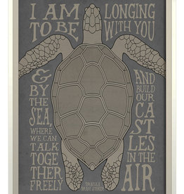 The Artwork of Kolene Spicher I am Longing to be with You on Gray Framed Print