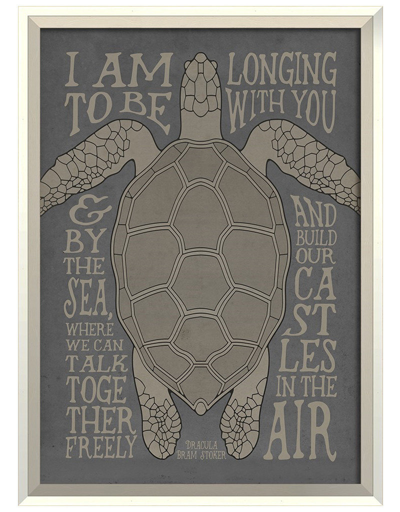 I am Longing to be with You on Gray Framed Print