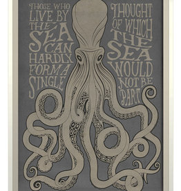 The Artwork of Kolene Spicher Those Who live by the Sea on Gray Framed Print