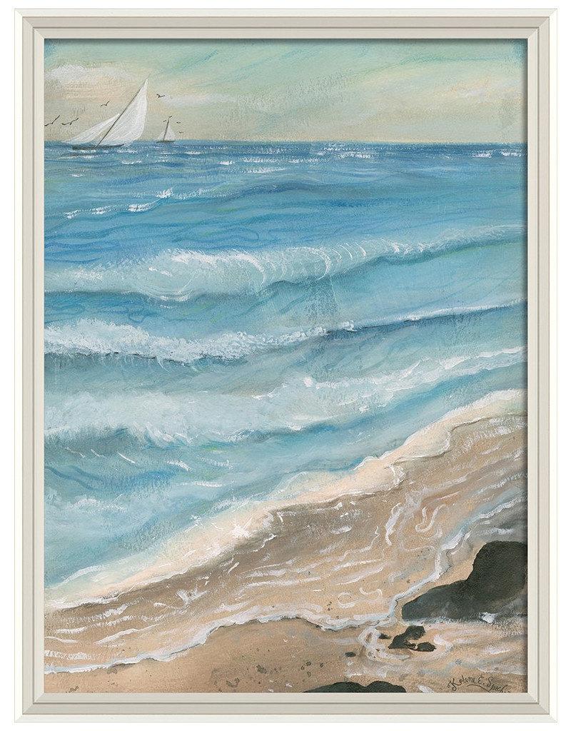 Seascape 1 Framed Print
