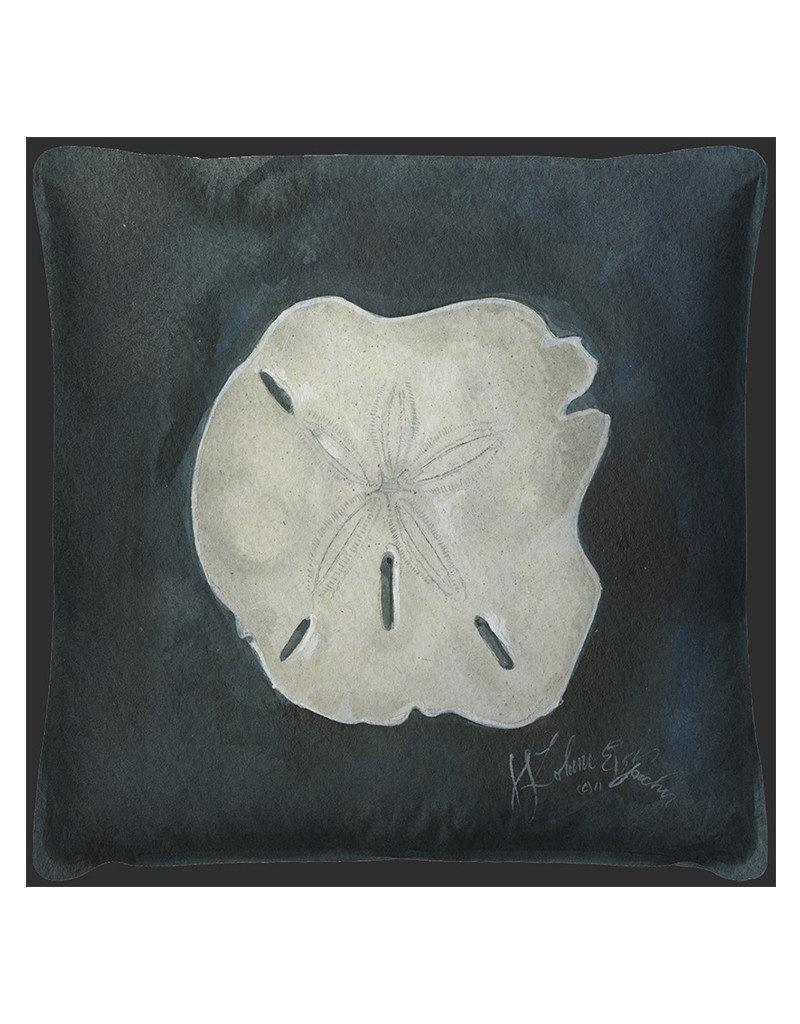 The Artwork of Kolene Spicher Sand Dollar Seashell  Pillow 20x20