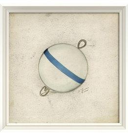 Blue and White Bobber Framed Print