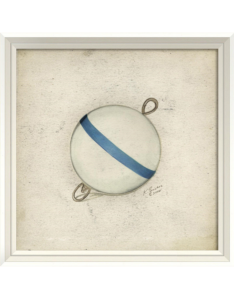 The Artwork of Kolene Spicher Blue and White Bobber Framed Print