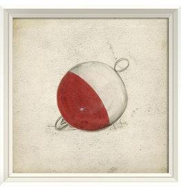 Red and White Bobber Framed Print