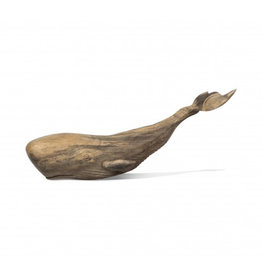 Wood Whale Sculpture Large