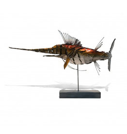 Marlin Metal Sculpture on Stand