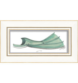 Green Flipper Framed Print
