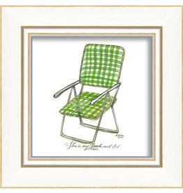 Green Beach Chair Framed Print