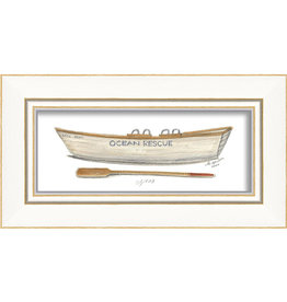 The Artwork of Kolene Spicher Ocean Rescue Boat Framed Print