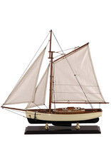 1930s Classic Yacht Model Sailboat