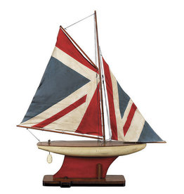 Authentic Models America Union Jack Pond Yacht Model Sailboat