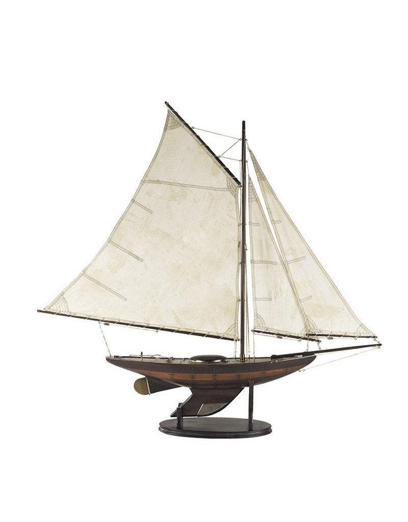 Yacht 'Ironsides' Small Model Sailboat