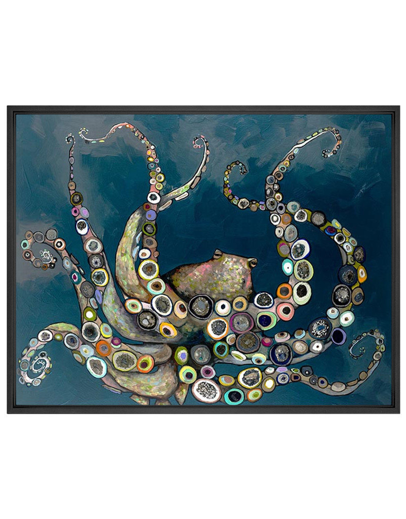 Octopus in the Deep Blue Sea Canvas Print
