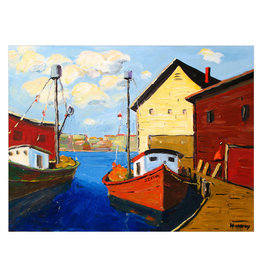 Sunday Morning at the Dock Canvas Print