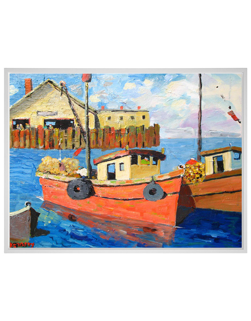 Morning on the Wharf Canvas Print