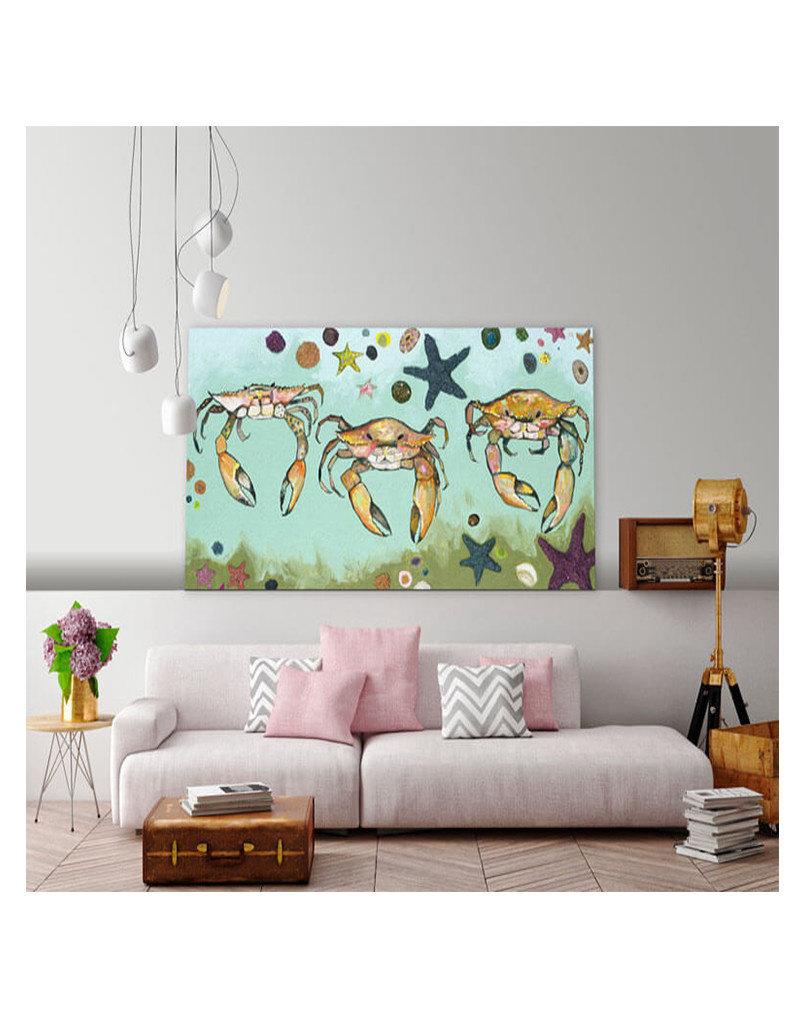 Crabs & Starfish Canvas Print
