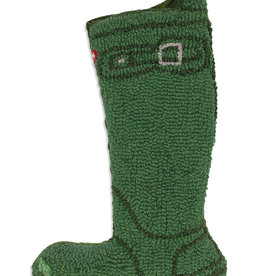 Chandlers 4 Corners Green Wellie Boot Hooked Wool Christmas Stocking
