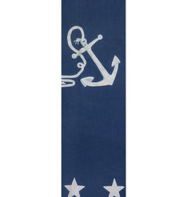 Anchor and Stars  Wool Blanket
