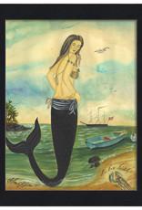 The Artwork of Kolene Spicher I've Been Spotted Mermaid Framed Print