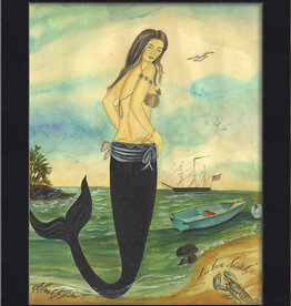 The Artwork of Kolene Spicher I've Been Spotted Mermaid Framed Print
