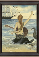The Artwork of Kolene Spicher Let's Rock Mermaid Framed Print