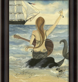 The Artwork of Kolene Spicher Let's Rock Mermaid Framed Print