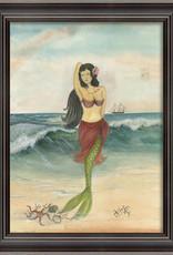 The Artwork of Kolene Spicher The Star of the Beach Mermaid Framed Print