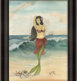 The Artwork of Kolene Spicher The Star of the Beach Mermaid Framed Print